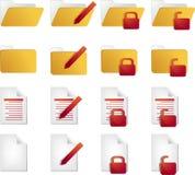 Icone di documento Fotografie Stock Libere da Diritti