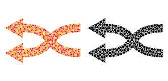 Icone di Dot Shuffle Arrows Left Mosaic royalty illustrazione gratis
