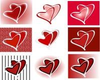 Icone di duo del cuore Immagini Stock