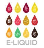 Icone di E-liquido Fotografie Stock