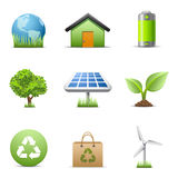 Icone di Eco Immagine Stock Libera da Diritti