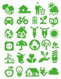 Icone di Eco Fotografia Stock Libera da Diritti