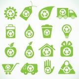 20 icone di eco Illustrazione Vettoriale