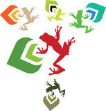 Icone di Eco Immagini Stock Libere da Diritti