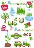 Icone di eco e bio- Fotografie Stock Libere da Diritti