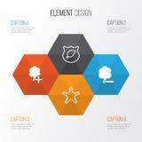 Icone di Eco impostate Raccolta della guardia Tree, del legno di cancellazione, del legno dell'inserzione e di altri elementi Ino Immagini Stock
