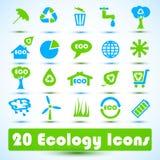 Icone di Eco impostate. Uso per l'affare Fotografie Stock Libere da Diritti