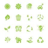 Icone di Eco messe Illustrazione Vettoriale