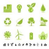 Icone di ecologia Fotografie Stock Libere da Diritti