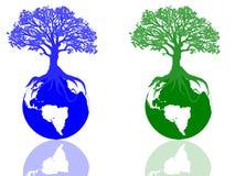 Icone di ecologia Fotografia Stock
