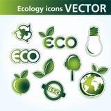 Icone di ecologia Fotografia Stock Libera da Diritti