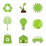 Icone di ecologia illustrazione vettoriale