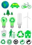 Icone di ecologia Immagini Stock