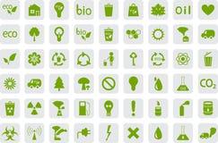 Icone di ecologia e di inquinamento Immagini Stock