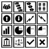 Icone di economia Fotografia Stock Libera da Diritti