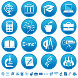 Icone di educazione & di scienza Immagine Stock