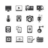 Icone di elettronica Fotografia Stock