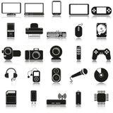 Icone di elettronica Immagine Stock