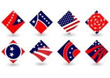 Icone di elezione Fotografia Stock