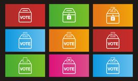 Icone di elezione - icone di stile della metropolitana Immagine Stock