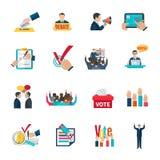 Icone di elezioni messe royalty illustrazione gratis