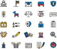 Icone di elezioni presidenziali Fotografia Stock