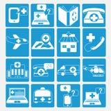 Icone di emergenza messe Fotografia Stock Libera da Diritti