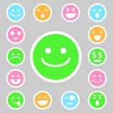 Icone di emozione messe Fotografie Stock