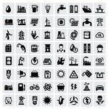 Icone di energia Fotografie Stock Libere da Diritti