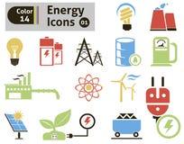 Icone di energia Immagini Stock