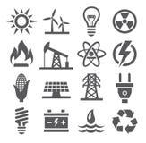 Icone di energia Immagini Stock Libere da Diritti