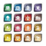 Icone di energia illustrazione di stock