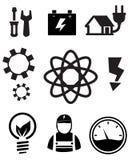 Icone di energia di Eco Fotografie Stock Libere da Diritti