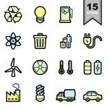 Icone di energia impostate Immagine Stock Libera da Diritti