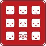 Icone di espressione del fronte illustrazione vettoriale