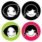 Icone di espressione del fronte royalty illustrazione gratis
