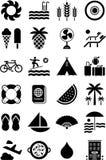 Icone di estate Fotografie Stock