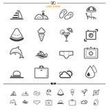 Icone di estate Immagine Stock