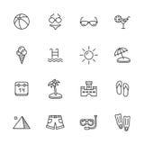 Icone di estate illustrazione di stock