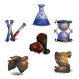 Icone di fantasia Immagini Stock