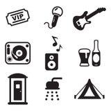 Icone di festival di musica Fotografia Stock