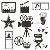Icone di film Immagine Stock
