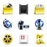 Icone di film   Serie di Bella Immagini Stock