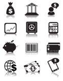 Icone di finanza Fotografie Stock