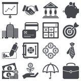Icone di finanza Fotografie Stock Libere da Diritti