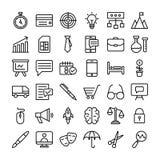 Icone di finanza e di affari messe illustrazione di stock