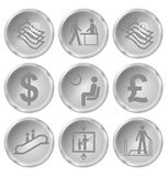 Icone di finanza e dell'ufficio Fotografia Stock