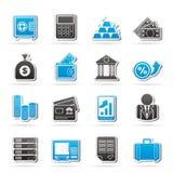 Icone di finanza e della Banca Fotografie Stock