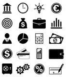 Icone di finanza e di affari Fotografie Stock Libere da Diritti