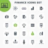 25 icone di finanza hanno messo, investendo, fondi, beni illustrazione vettoriale